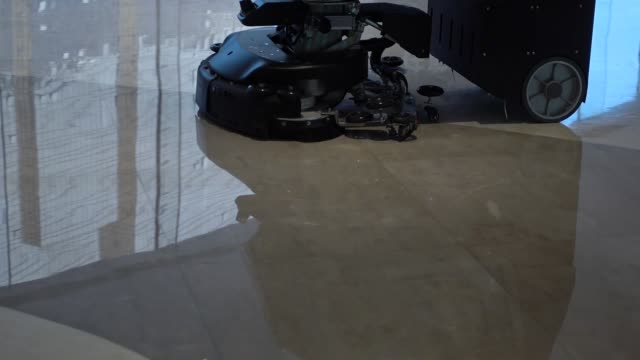 robot cleaning building flooring - washing machine stock videos and b-roll footage