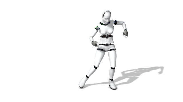 robot cyborg woman dancing salsa - robot stock videos & royalty-free footage