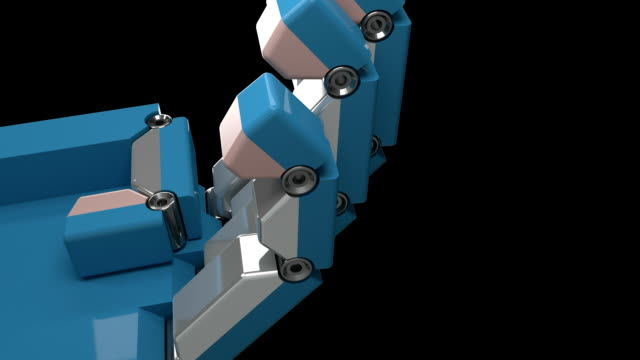 Robot Hand Animation 3D Render