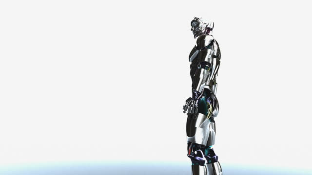 cgi ms zo ws robot kicking soccer ball - cyborg stock videos & royalty-free footage