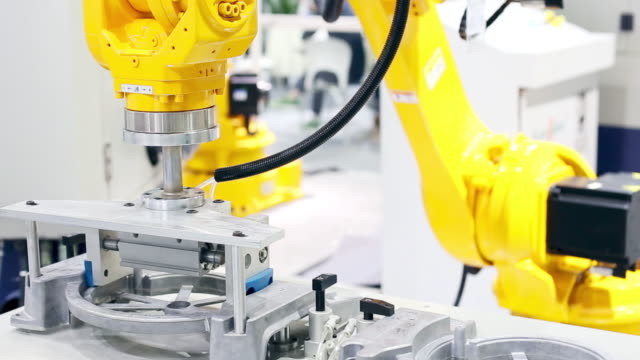 robot machine on artificial intelligence - manufacturing stock videos & royalty-free footage
