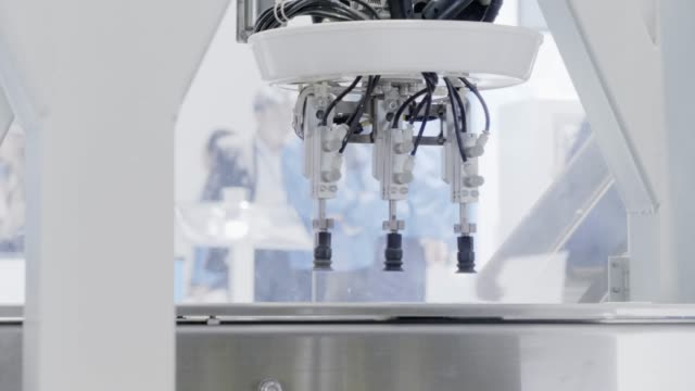 robot machine on artificial intelligence - exhibition stock videos and b-roll footage