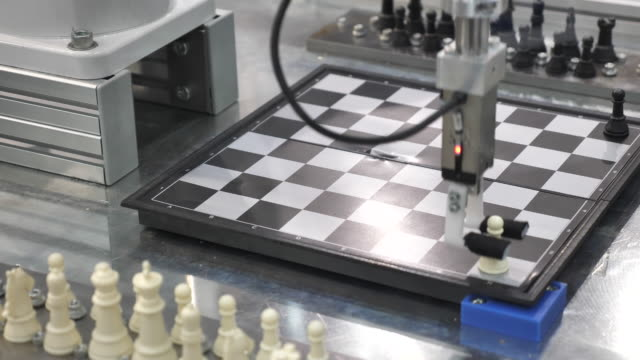 robot playing chess - chess stock videos & royalty-free footage