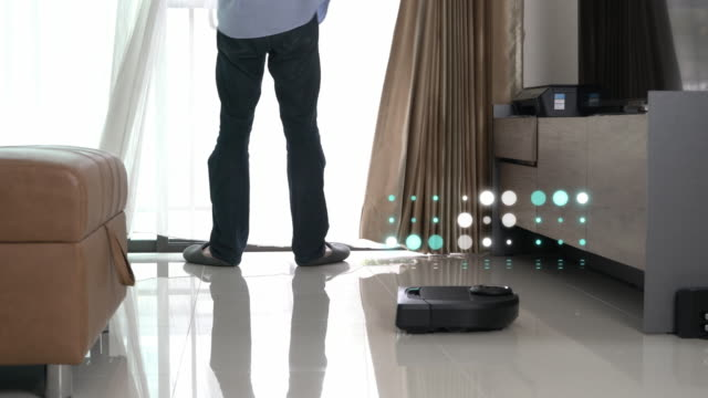 robot vacuum cleaner innovation - cleaner stock videos and b-roll footage
