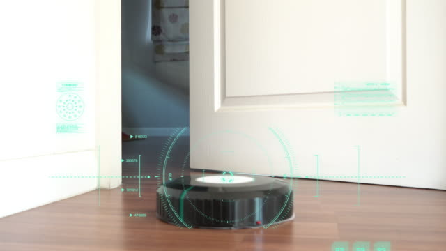 robot vacuum cleaner - automatic stock videos & royalty-free footage