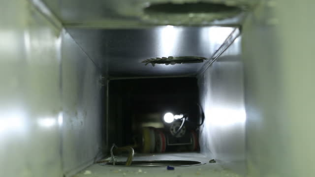 robotic house hvac duct cleaning - air duct stock videos & royalty-free footage