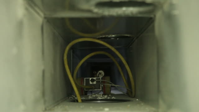 robotic house hvac duct cleaning - industrial equipment stock videos & royalty-free footage