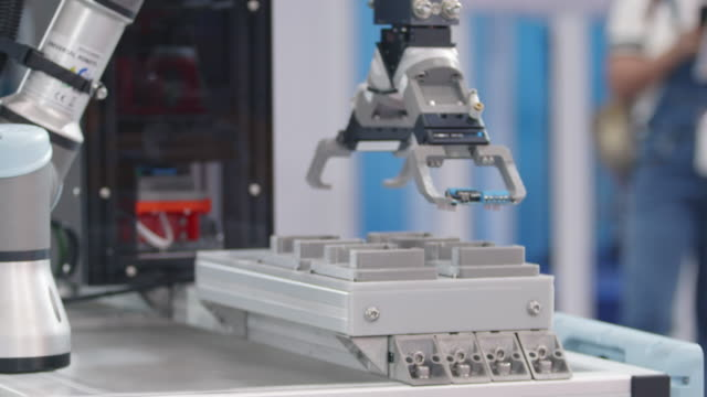 robotic pcb loading on artificial intelligence. - manufacturing equipment stock videos & royalty-free footage