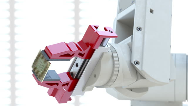 robot's arm holding processor - 朝鮮半島点の映像素材/bロール