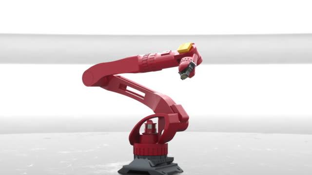 vídeos y material grabado en eventos de stock de robot's arm holding processor - herramientas de fabricación