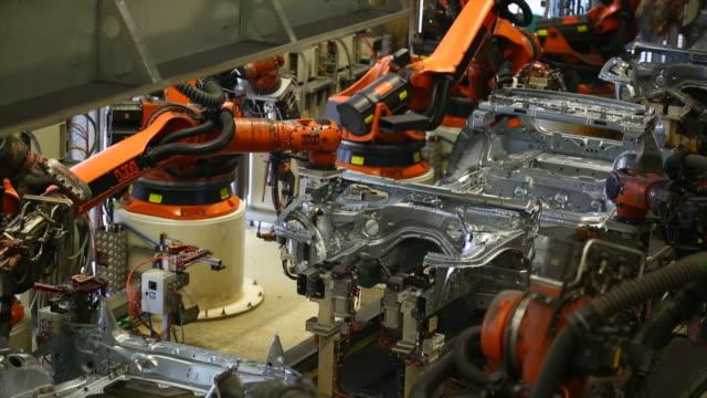 Robots assembling car body