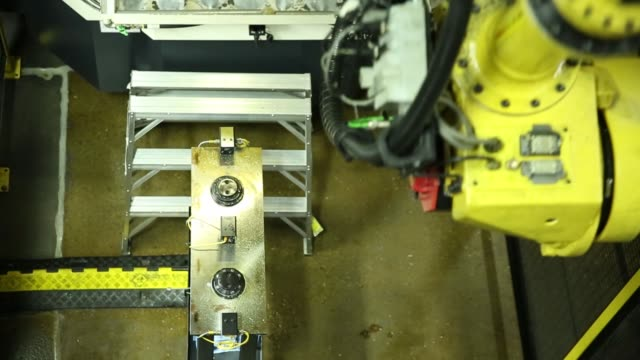 robots performing various tasks in the gear manufacturing process at the sew-eurodrive plant in lyman, south carolina on june 23, 2017. shots: high... - plant process stock videos & royalty-free footage