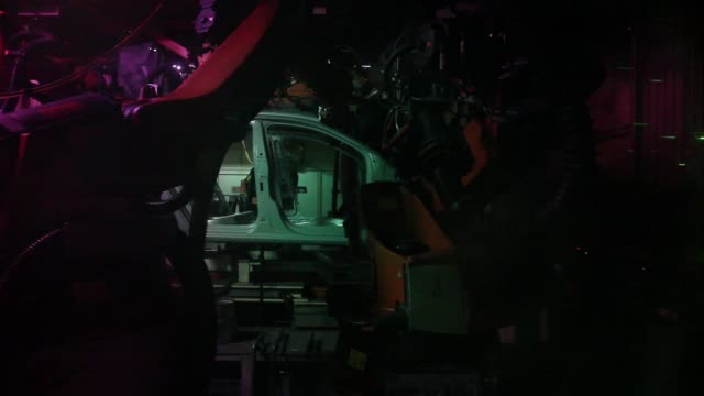robots weld and lasercut the bodywork of a volkswagen ag vento automobile on the production line at the volkswagen india pvt plant in chakan... - vento stock videos & royalty-free footage