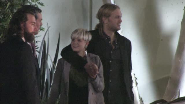 robyn leaving the emi grammy after party in hollywood 02/12/12 - emi grammy party stock videos & royalty-free footage