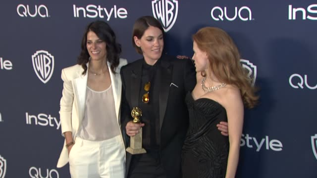 Robyn Shapiro Megan Ellison and Jessica Chastain at 2014 InStyle And Warner Bros 71st Annual Golden Globe Awards PostParty at The Beverly Hilton...