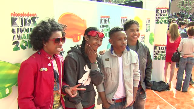 Roc Royal Prodigy Princeton and Ray Ray of Mindless Behavior at Nickelodeon's 25th Annual Kids' Choice Awards on 3/31/2012 in Los Angeles CA