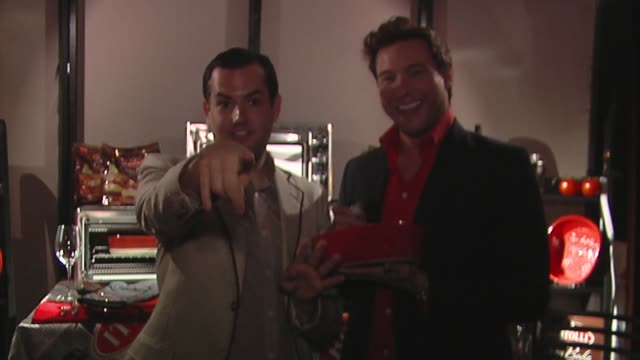 rocco dispirito, ross mathews at the bertolli at the presenters gift lounge celebrating the primetime emmy awards hosted by aeg ehrlich ventures at... - gift lounge stock videos & royalty-free footage