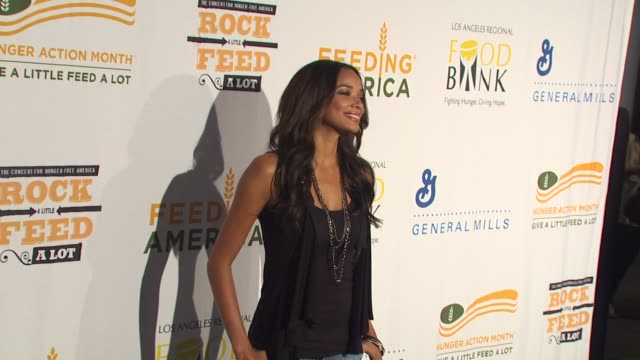 Rochelle Aytes at the 'Rock A Little Feed A Lot' Benefit Concert at Los Angeles CA
