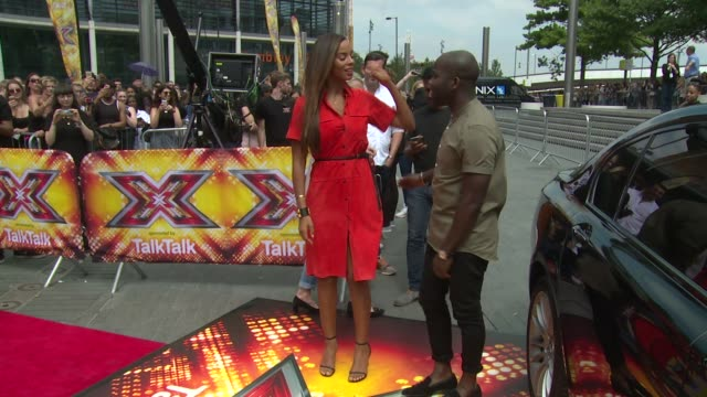 rochelle humes at the x factor – london auditions on 16th july 2015 in london, england. - the x factor stock videos & royalty-free footage