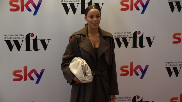 rochelle humes attends the women in film tv awards 2019 at hilton park lane on december 06 2019 in london england - steve coogan stock videos & royalty-free footage
