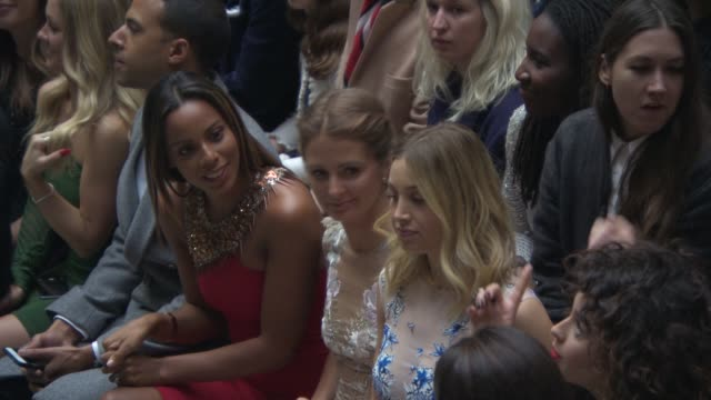 BROLL Rochelle Humes Millie Mackintosh at Julien Macdonald a/w 2015 at Foreign Commonwealth Office King Charles Street London SW1A on February 21...