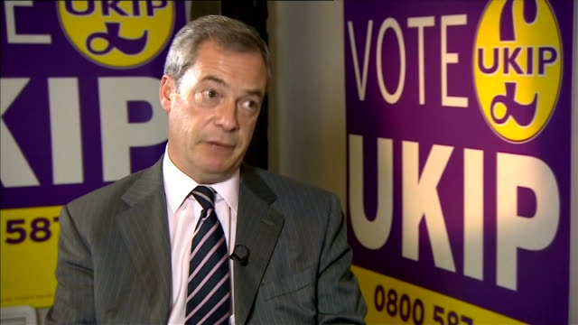 rochester and strood by-election: ukip victory; nigel farage mep interview sot - i think you'll find that in these type of north kent seats - which... - mep stock videos & royalty-free footage