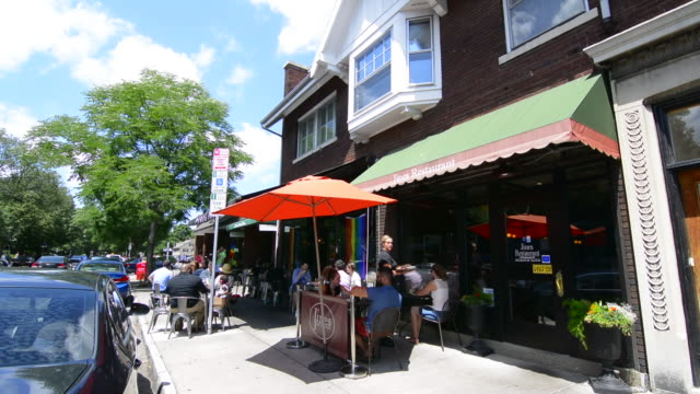 Rochester New York NY downtown city restaurant on Park Avenue cafes called The Frog Pond and Jines Restaurant relax trendy food locals
