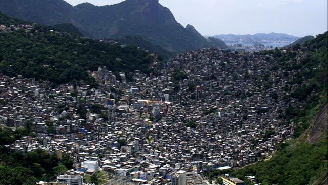 Rocinha Favelas-Luftaufnahme-Rio de Janeiro, Brasilien