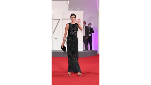 rocio munoz morales walks the red carpet ahead of the movie the world to come at the 77th venice film festival on september 06 2020 in venice italy - gif stock videos & royalty-free footage