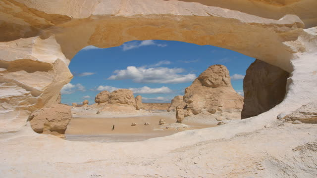 rock arch in the white desert of egypt
