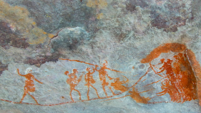 rock art painting, clanwilliam - cave painting stock videos & royalty-free footage