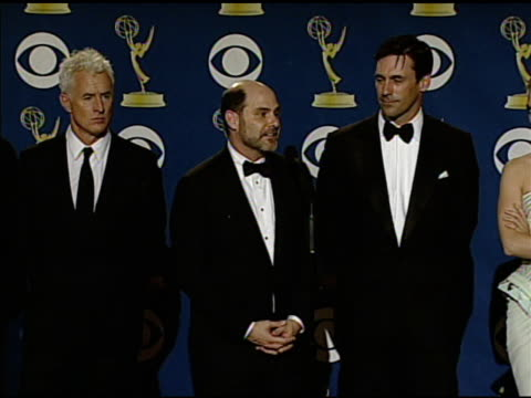 rock at the 61st annual primetime emmy awards - press room at los angeles ca. - annual primetime emmy awards stock-videos und b-roll-filmmaterial