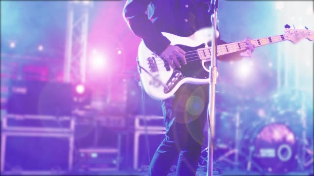rock band and rock musicians on stage - rocking stock videos & royalty-free footage