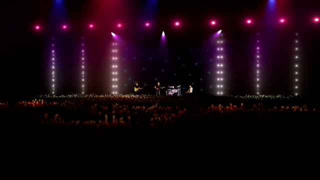 rock band on stage at big concert - rock group stock videos & royalty-free footage