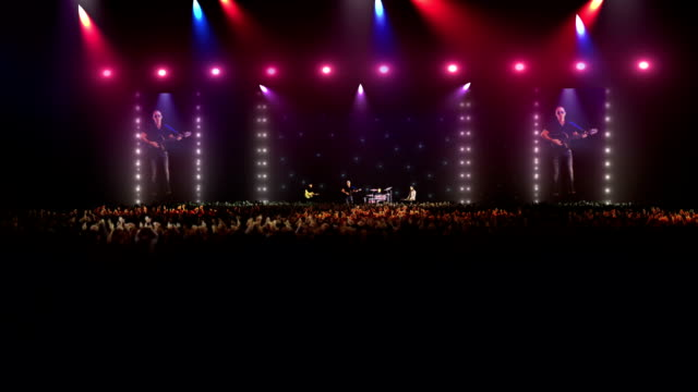 rock band performing at a big concert - rock group stock videos & royalty-free footage