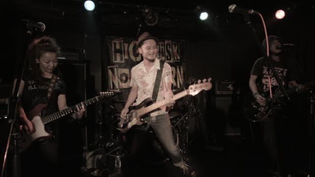 WS Rock band performing on stage / Nakano, Tokyo, Japan