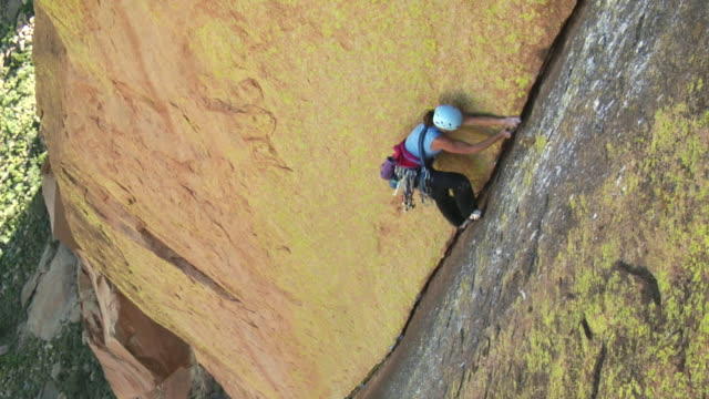 ws ha zo rock climber climbing mountain, uis, damaraland, namibia - sports helmet stock videos and b-roll footage