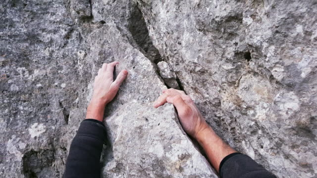 rock climber close-up - climbing stock videos & royalty-free footage