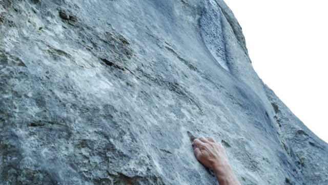 rock climber searching for a path - steep stock videos & royalty-free footage