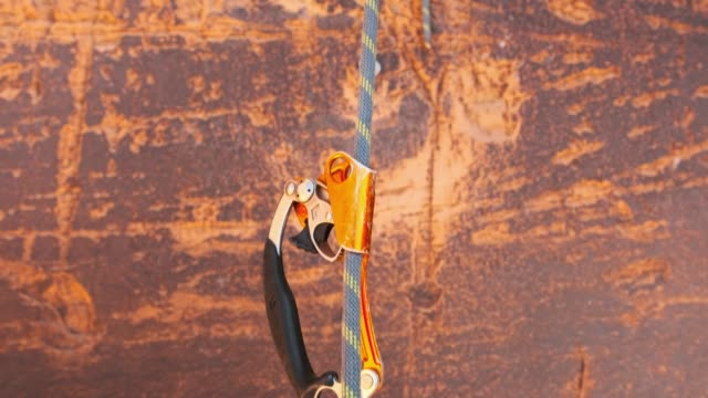 rock climbing equipment - climbing equipment stock videos & royalty-free footage