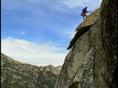 rock climbing - abseiling stock videos & royalty-free footage