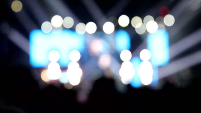 rock concert crowd during festival,blurred motion - concert hall stock videos & royalty-free footage