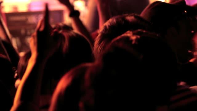 Rock concert crowd.
