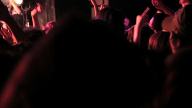 rock concert crowd,hands up - ecstatic stock videos & royalty-free footage
