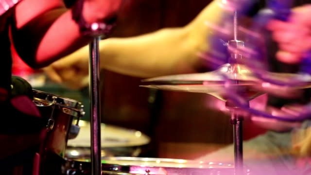 rock concert, drummer. - performer stock videos and b-roll footage
