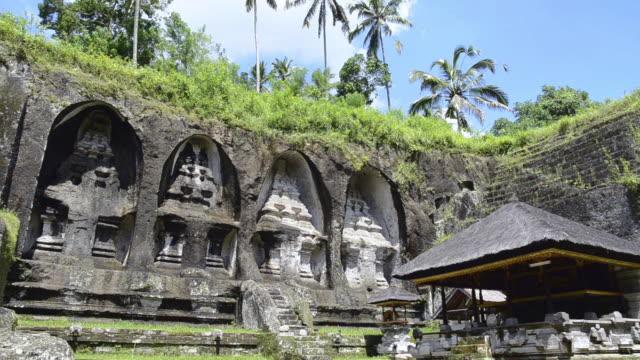 MS Rock cut shrines of King grave of Tampaksiring / Gunung Kawi, Bali, Indonesia