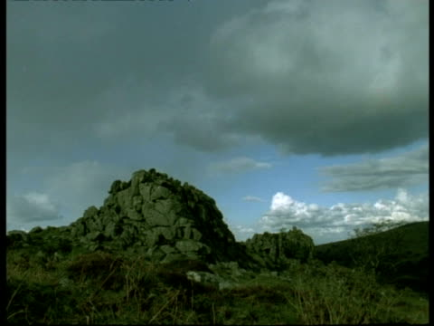 rock, dartmoor - ms granite tor rock formation - dartmoor stock videos & royalty-free footage