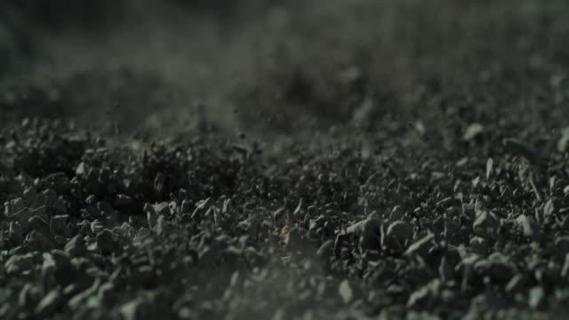 rock dust sand explosion slow motion macro - kiselsten bildbanksvideor och videomaterial från bakom kulisserna