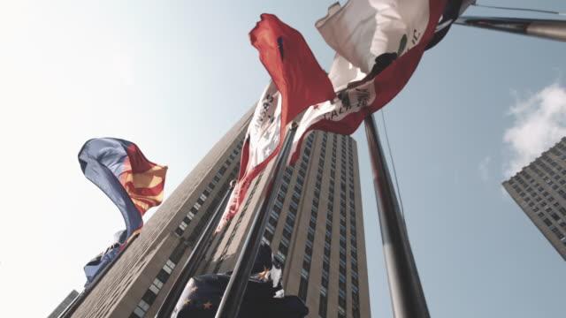 30 rock establishing shot, new york city - ロックフェラーセンター点の映像素材/bロール
