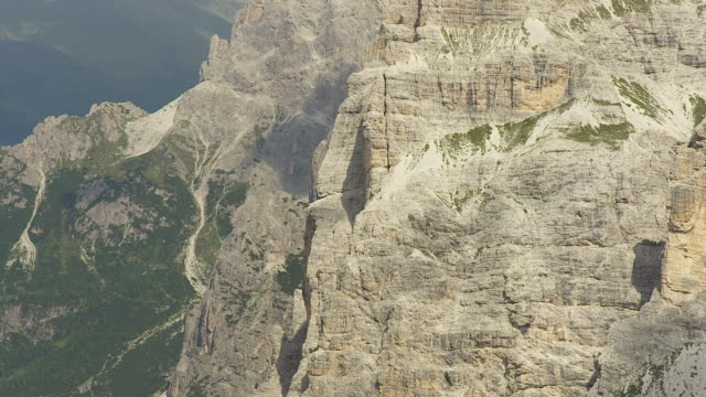 rock face, landscape in the dolomites - rock face stock videos & royalty-free footage